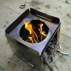 Stainless Steel Wood Stove Spirit Burner Alcohol Stove Outdoor Camping Hiking