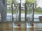 MODERN & HEAVY (1 LB EA.) TOWLE FULL LEAD CRYSTAL CANDLE HOLDERS MADE IN AUSTRIA