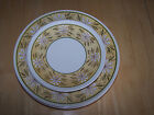 Taylor USA Ironstone GREEN YELLOW DAISY Set of 4 Dinner Plates & 2 Salad Plates