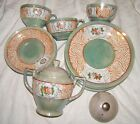 Lot of 15 Vintage Lusterware -Japan-Gold & Peach Rose pattern