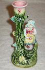 Antique/Vintage French Majolica China Hand Painted Decorated Candle Holder 6