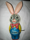 Vintage Mattel Peter Cottontail Wind-up Musical Toy Bunny Rabbit Tin Litho