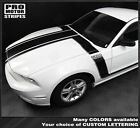 MATTE WHITE Ford Mustang Boss 302 Style Hood and Side Stripes 2013 2014 DECALS