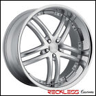 20 CONCEPT ONE RS 55 STAGGERED WHEELS SILVER CHROME LIP FITS AUDI C7 A6