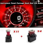 Red LED KIT FOR 92-95 Jeep Wrangler INSTRUMENT CLUSTER PANEL SPEEDOMETER LIGHT