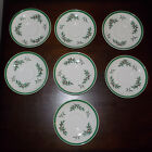 Spode - (England)  7 Cup (Saucers) in the Christmas Tree-Green Trim pattern
