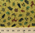 Lake of The Woods Bear Moose Duck Green Cotton Fabric Print by the Yard D580.16