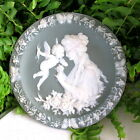 GORGEOUS SCHAFER & VATER JASPARWARE WALL PLATE/ PLAQUE CHERUB & GODDESS