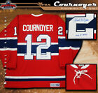 YVAN COURNOYER Signed & Inscribed Montreal Canadiens Red Vintage CCM Jersey