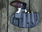 Bond Arms Snake Slayer IV leather holster and extra ammo 45 410 holder black