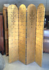 VINTAGE ART DECCO 4 PANEL GOLD FLORAL PRINT DRESSING SCREEN/ROOM DIVIDER 1920'S