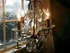 Antique Art Deco 1920's French Crystals 5 Light Chandelier All Offers Considered