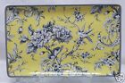 222 FIFTH ADELAIDE YELLOW LARGE RETANGULAR SERVING TRAY BRAND NEW TOILE BIRD