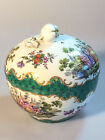 Antique Nymphenburg Hand-Painted Porcelain Bowl with Lid, CT Crown Mark 18th C