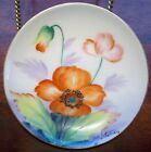 BEAUTIFUL SMALL HANDPAINTED PORCELAIN PLATE SIGNED BY HITOMI FLORAL DESIGN