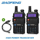 2* Baofeng UV-5RTP 136-174/400-520MHz FM Ham Handheld Two-Way Radio + Cable