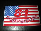 HELLS ANGELS WASHINGTON NOMADS AMERICAN FLAG 81 SUPPORTER BUMPER STICKER / DECAL