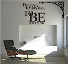 Don't Worry Amazing Letter Character Mural Wall Quote Sticker Decals Inspiration