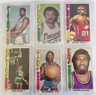 1976-77 Topps Basketball Trading Card Lot, 50 Common to Semistars, Fair to EX+