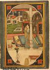 VINTAGE INDIAN MINIATURE PAINTING OF MUGHAL JAIPUR PRINCESS OPAQUE WATERCOLOR