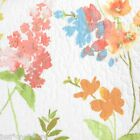 CYNTHIA ROWLEY COTTAGE FLORAL QUEEN QUILT 3pc SET WHITE YELLOW ORANGE SPRING