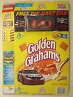 Empty GOLDEN GRAHAMS Cereal Box 2000 #19 Car CASEY ATWOOD 13 oz