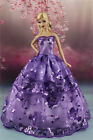 Purple Fashion Party Dress/Wedding Clothes/Gown For Barbie Doll S186