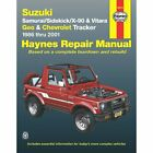 New Haynes Manual Chevy Suzuki Sidekick Chevrolet Tracker Vitara Geo 2001 90010