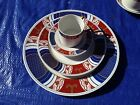 4 pc place set.Fitz & Floyd NISHIKI,rare1975 Satsuma themed,demitasse dinner set