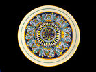 Deruta Italy Large Geometric Round Serving Plate Charger
