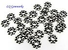 100 Sterling Silver 65mm Daisy Spacer Beads