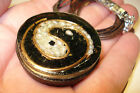 YIN  YANG   ORGONE  ENERGY  PENDANT   BLACK  TOURMALINE  PEARL  AND  COPPER