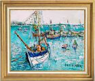 WELL-LISTED ARTIST~ORIGINAL OIL PAINTING~YOLANDE ARDISSONE~FISHING BOATS