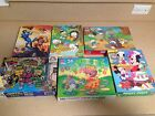 Vintage Puzzle Lot Smurfs Ninja Turtles He-Man Candyland Mickey Mouse Smurfs