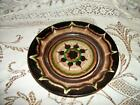 ANTIQUE CHIC REDWARE POTTERY PLATE SHABBY SWIRL ESTATE