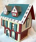 Vintage Hand Made & Painted Wooden Music Box House Chalet Edelweiss EUC