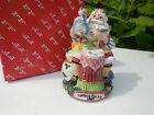 FITZ & FLOYD SANTA'S  MAGIC WORKSHOP CHRISTMAS BELL FIGURINE 1997