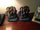 Invincible Armada Circa 1929 Bronze Clad Bookends by Armor Bronze Co.