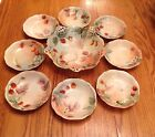 Antique Rosenthal Artist Signed Berry Bowl Set Master & 8 Individual Old Mark