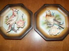 2 Vintage Tilso Hand Painted Bird Plaques, Japan