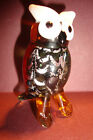 Genuine Handmade  Spun Glass ~Owl~Figure~Ornament~Bird~Boxed~uk seller