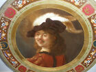 Antique Royal Vienna Porcelain hand painted Plate Late 19th Rembrandt Portrait