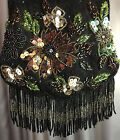 Vintage Style Black Beaded Coin Purse