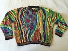 Coogi Sweater M Cosby Biggie Smalls Drake Vintage Animal Print Fish Birds Rare