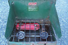 Vintage Coleman 2 Burner Camp Cook Stove Model 425 E  Date 2/77