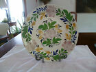RARE LARGE ADAMS ROSE TYPE PEARLWARE SOFT PASTE BOWL, UNUSUAL COLORS, 12