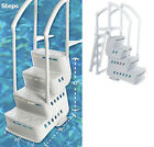 Innovaplas Biltmor Above Ground In Pool Ladder Step Entry System w Deck Mounts
