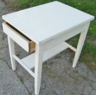 VINTAGE 1920's 1-DRAWER PAINTED MAHOGANY LAMP OCCASIONAL END TABLE