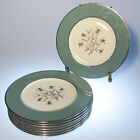 Set of 8 Lenox Porcelain Kingsley Pattern Salad Plates Floral Teal