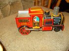 Vintage Tin Litho Train Battery Operated C 7021  Coal Engine Toy Japan WORKING!